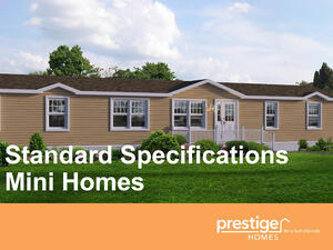 Standard Specifications for Mini Homes